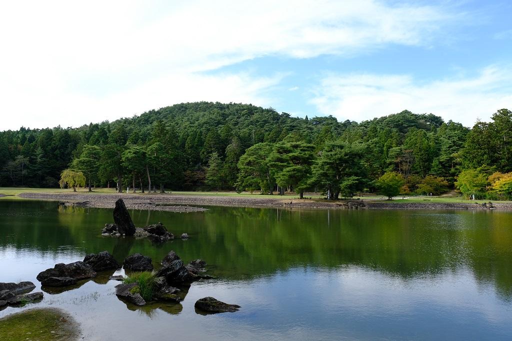 毛越寺大泉が池の風景!