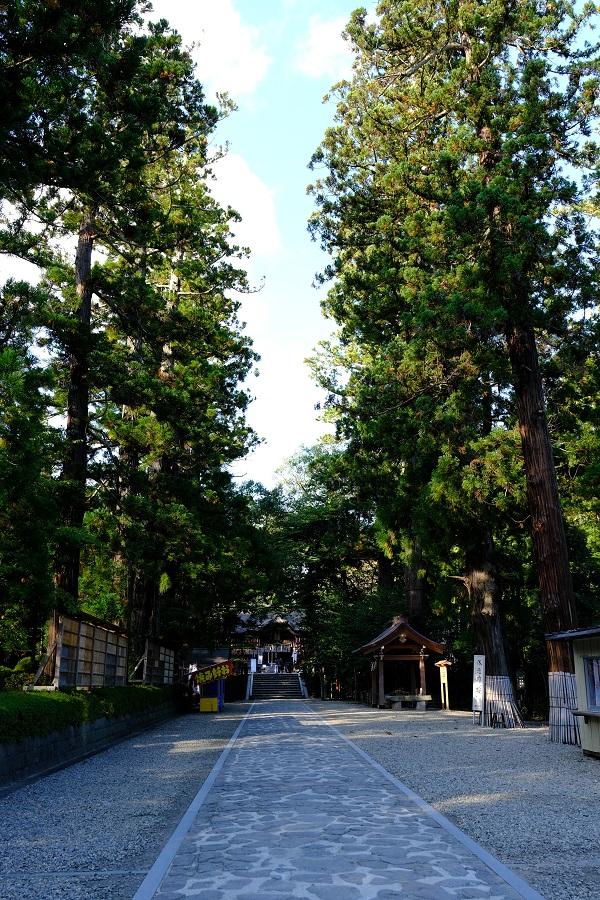 大崎八幡宮の初秋の風景写真