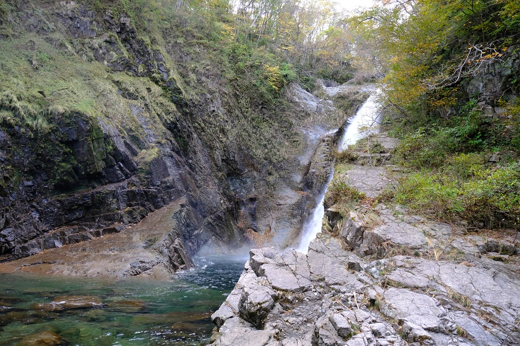 秋保大滝の滝つぼの写真の作例