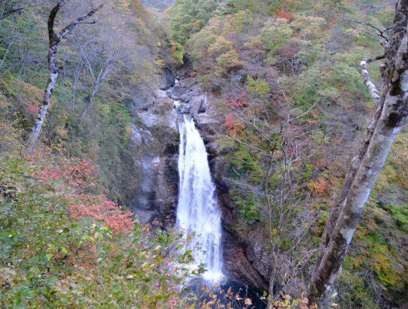 秋保大滝展望見晴らし台からの風景写真