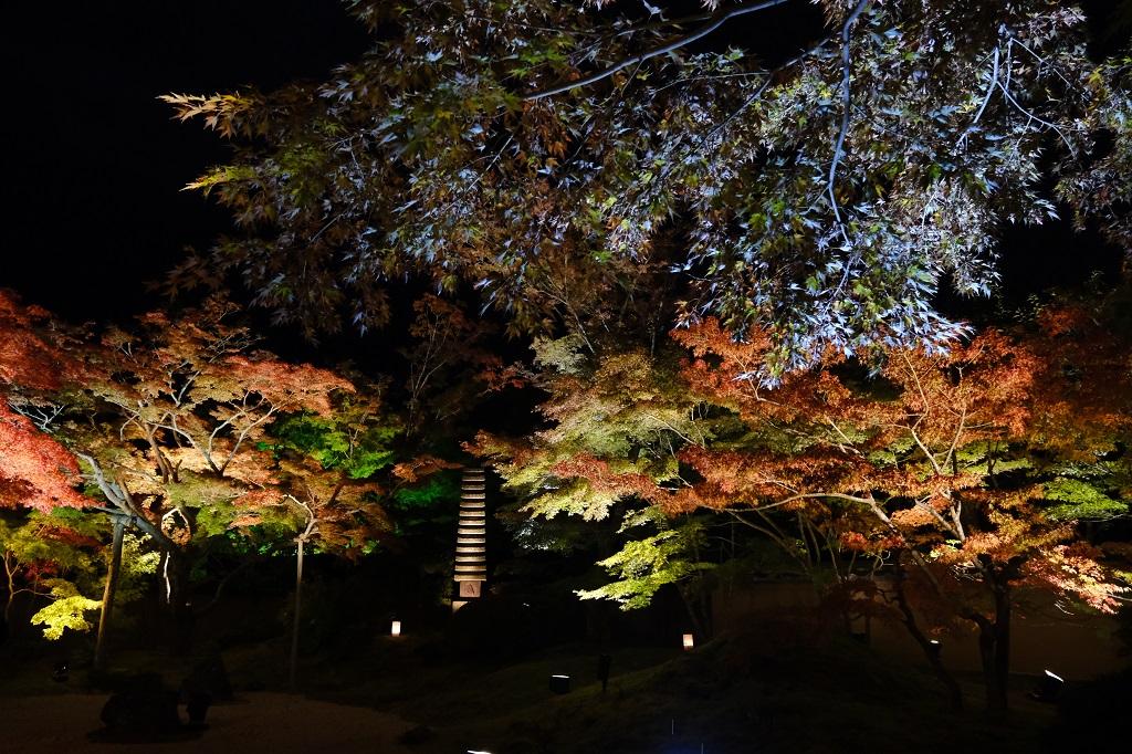 円通院のライトアップの写真で手振れ補正を検証する