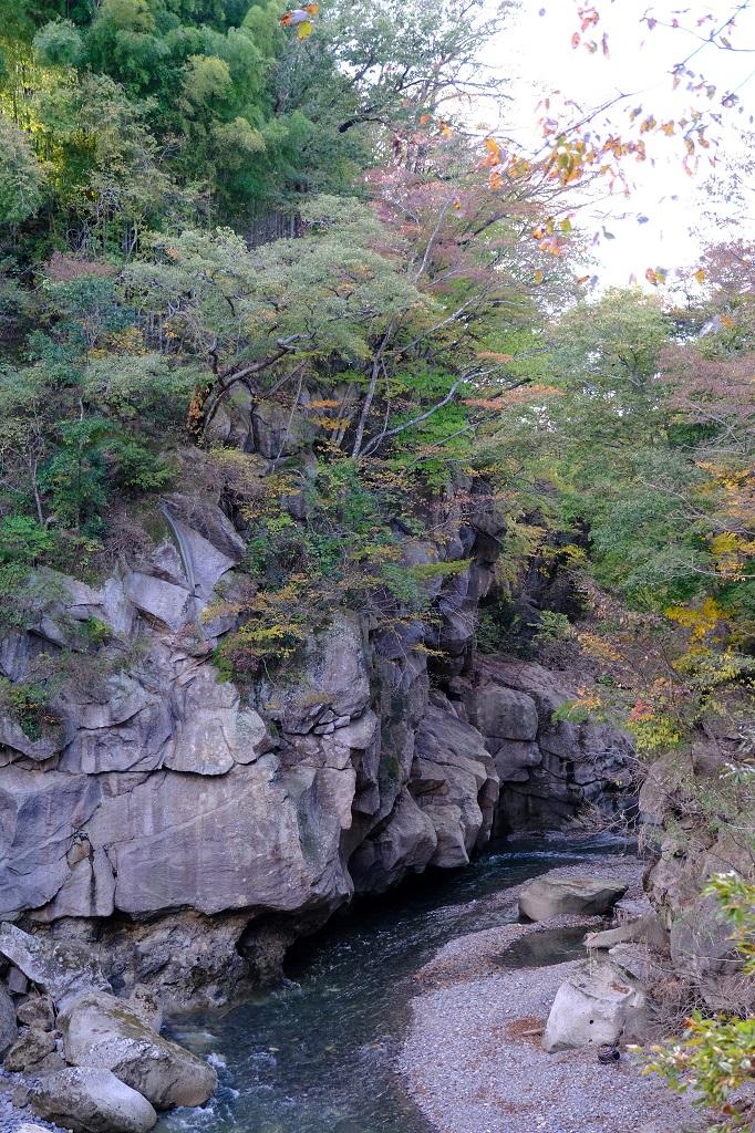 磊々峡の紅葉の写真