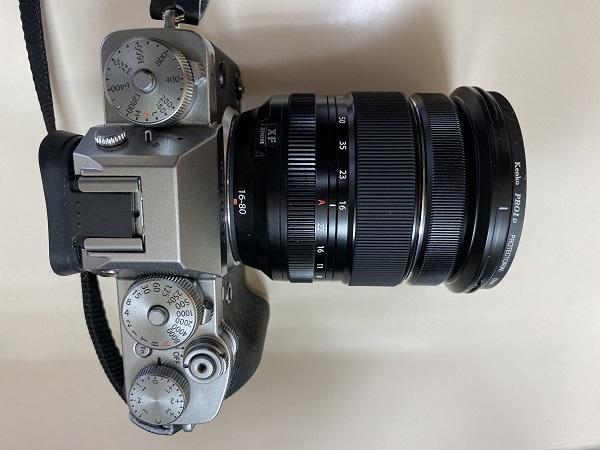 X-T3にXF16-80F4.0 装着した画像
