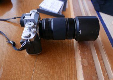XF55-200mmF3.5-4.8をX-T3に装着した写真