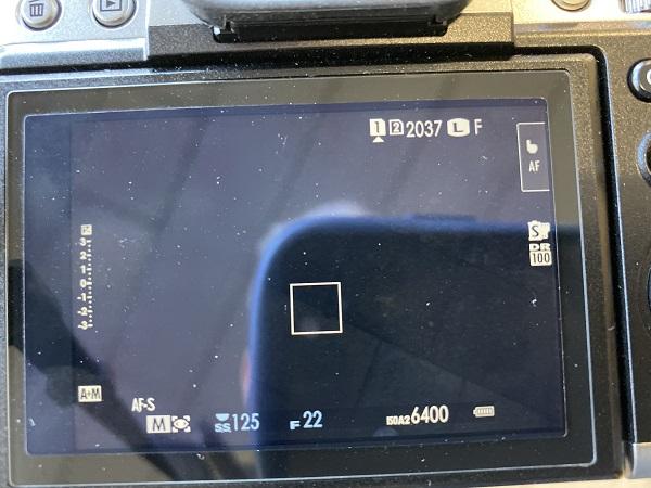 X-T3の電池の実験の写真