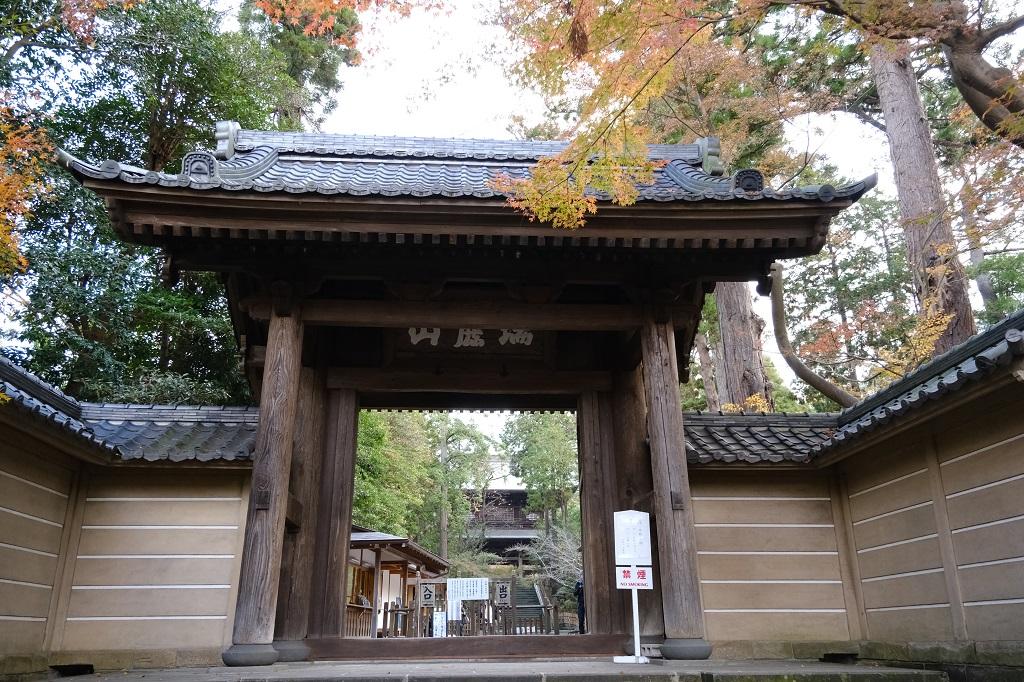 円覚寺の正門の風景写真