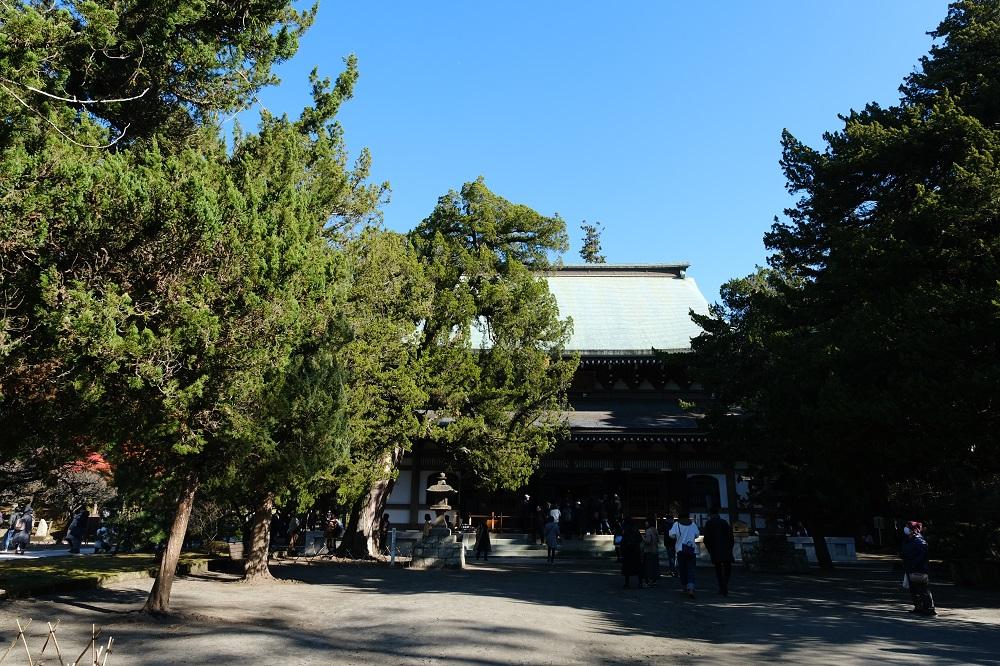 円覚寺の正面の風景