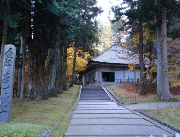 中尊寺金色堂の風景写真