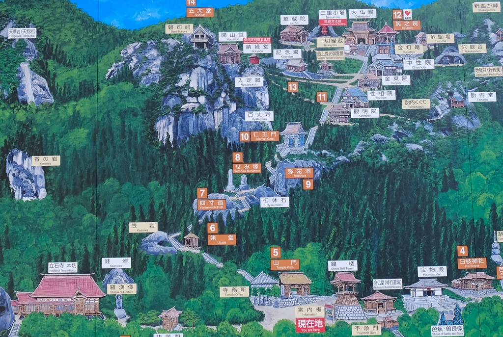 立国時巡拝の登山の案内図