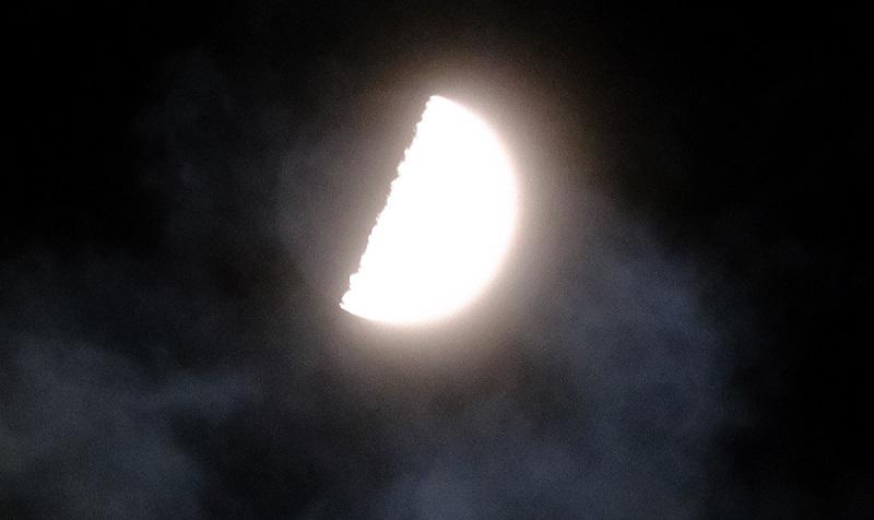 2020年1月の上弦の月
