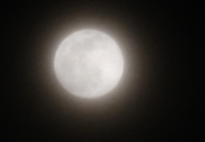 2月8日の満月の前の日の写真
