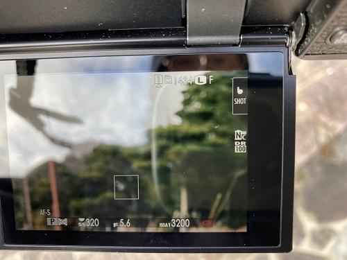 x-pro3充電電池残量表示の写真