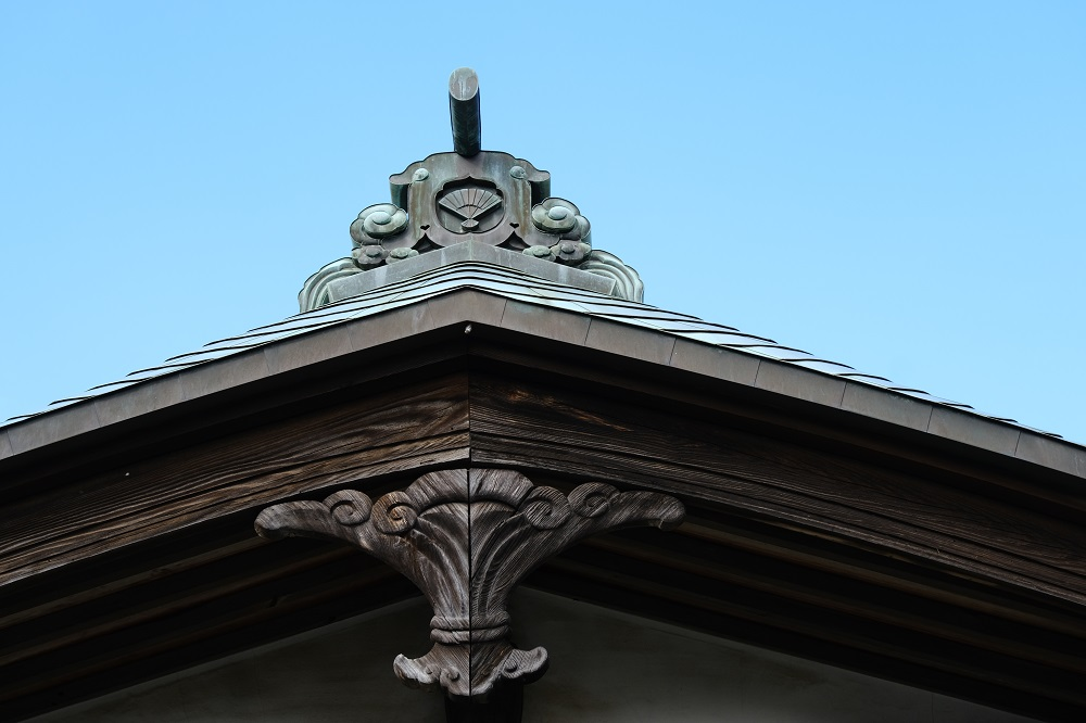 海蔵寺の境内の風景の写真