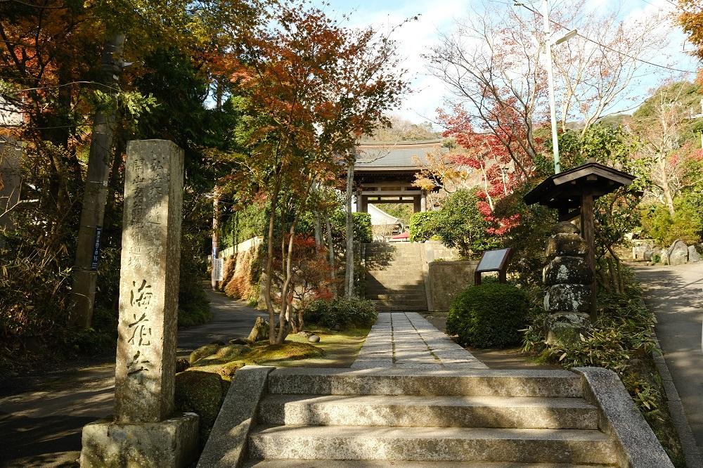 海蔵寺の入り口の門の風景