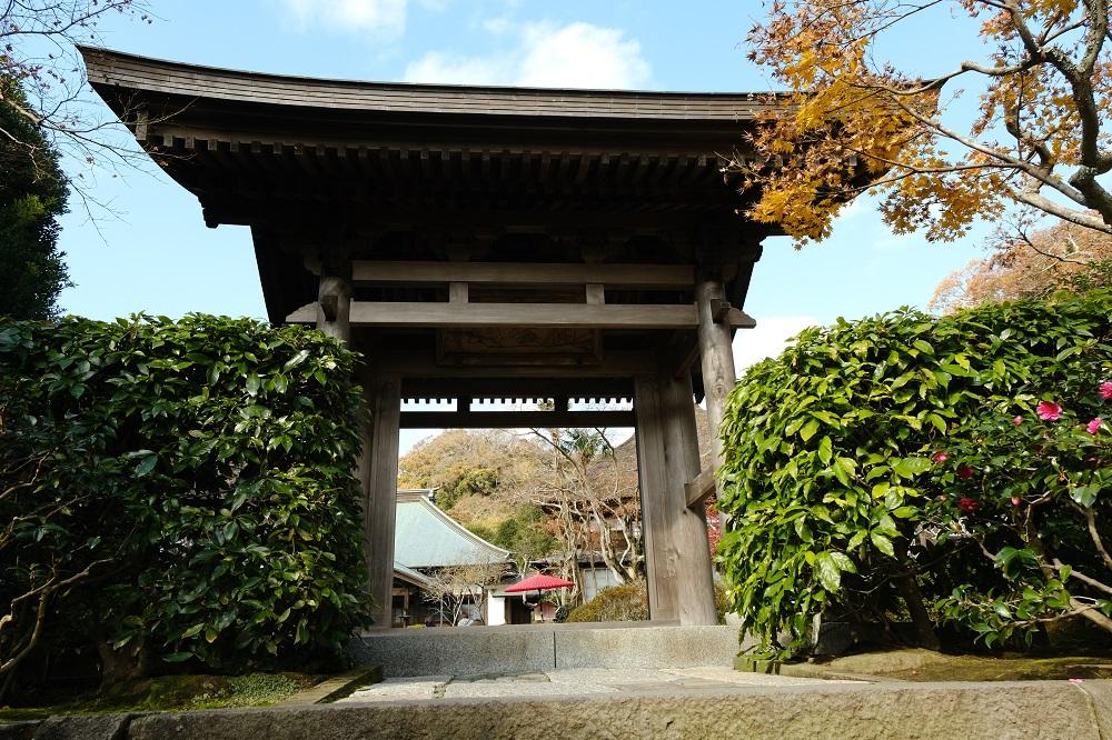 海蔵寺の正門の風景