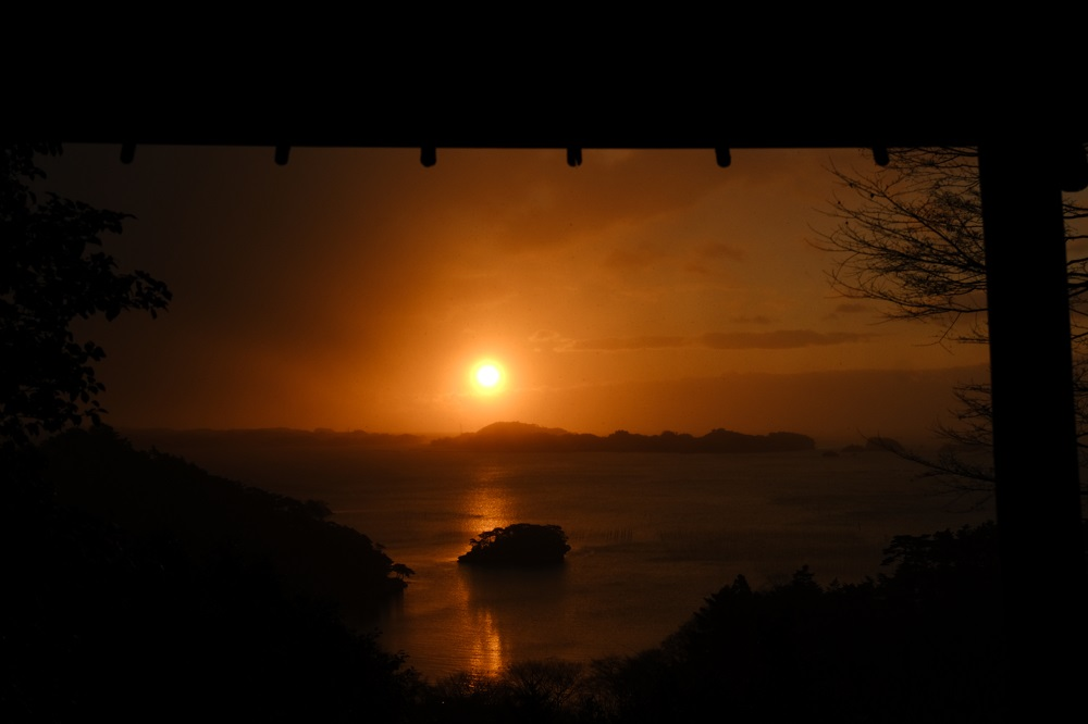 扇谷の2020年初日の出写真