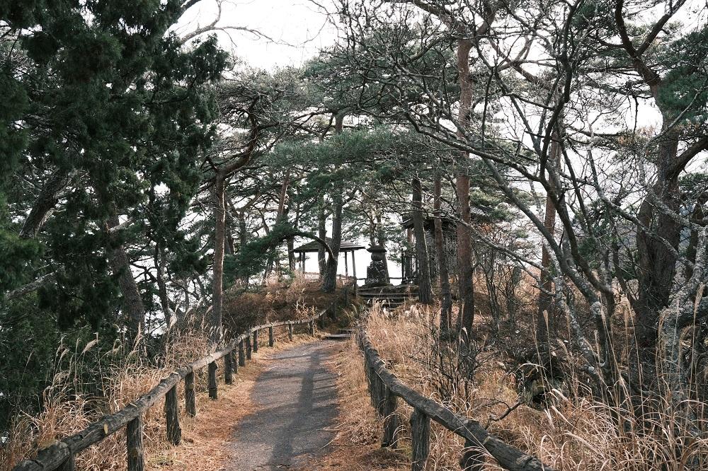 雄島の遊歩道の風景写真