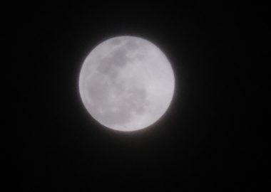 2月の満月snowmoonの写真
