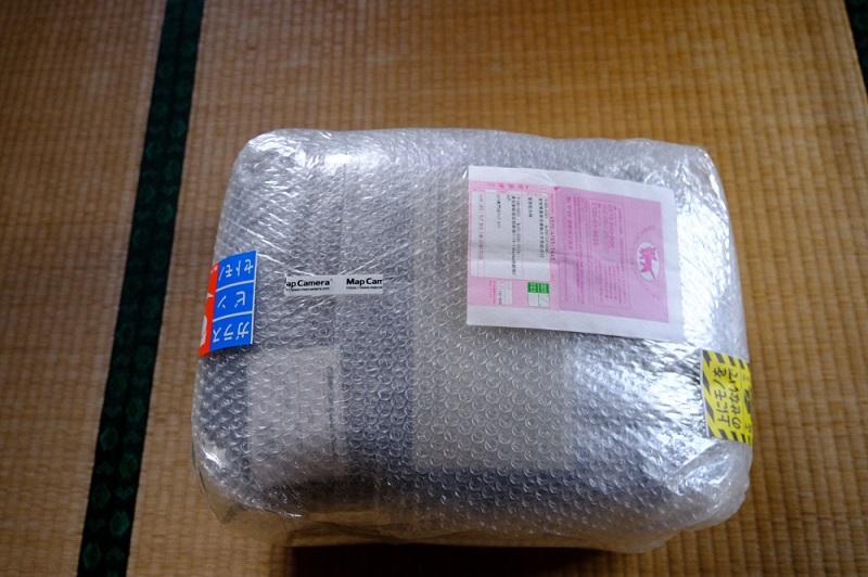 ニコンのスマートカメラリュック梱包状態の写真