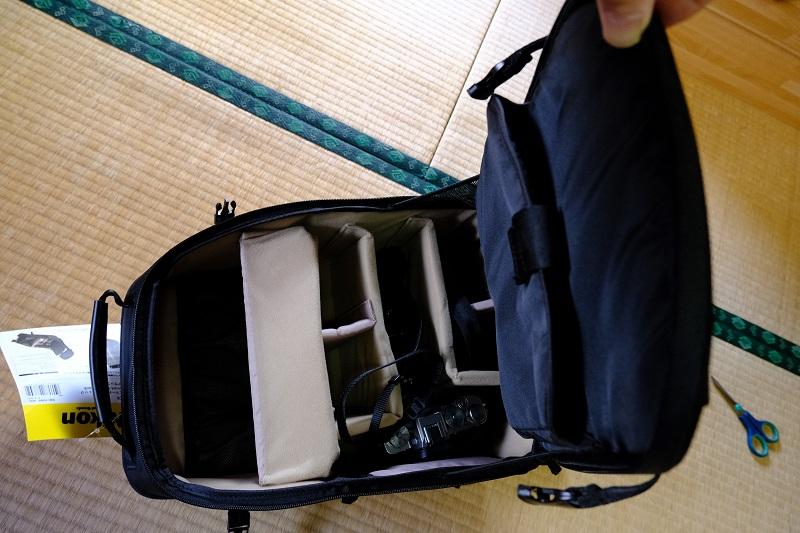 ニコンのスマートカメラリュックにカメラを入れてみた写真