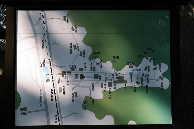 円覚寺の見どころマップ