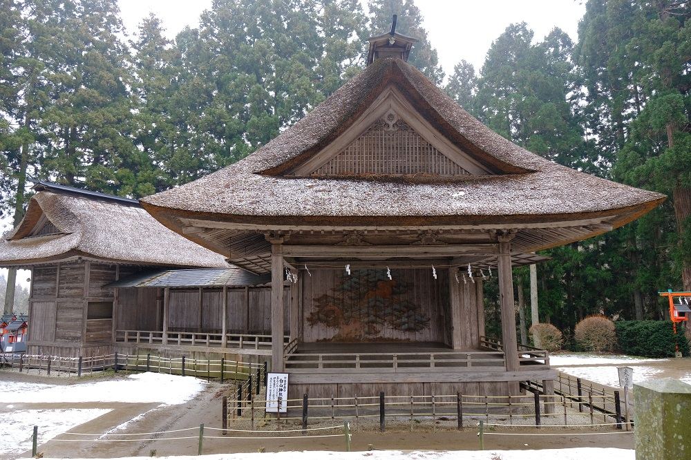 野外能楽堂の風景写真
