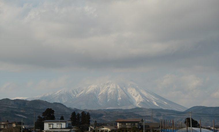 岩手山の冬yの雄姿の写真