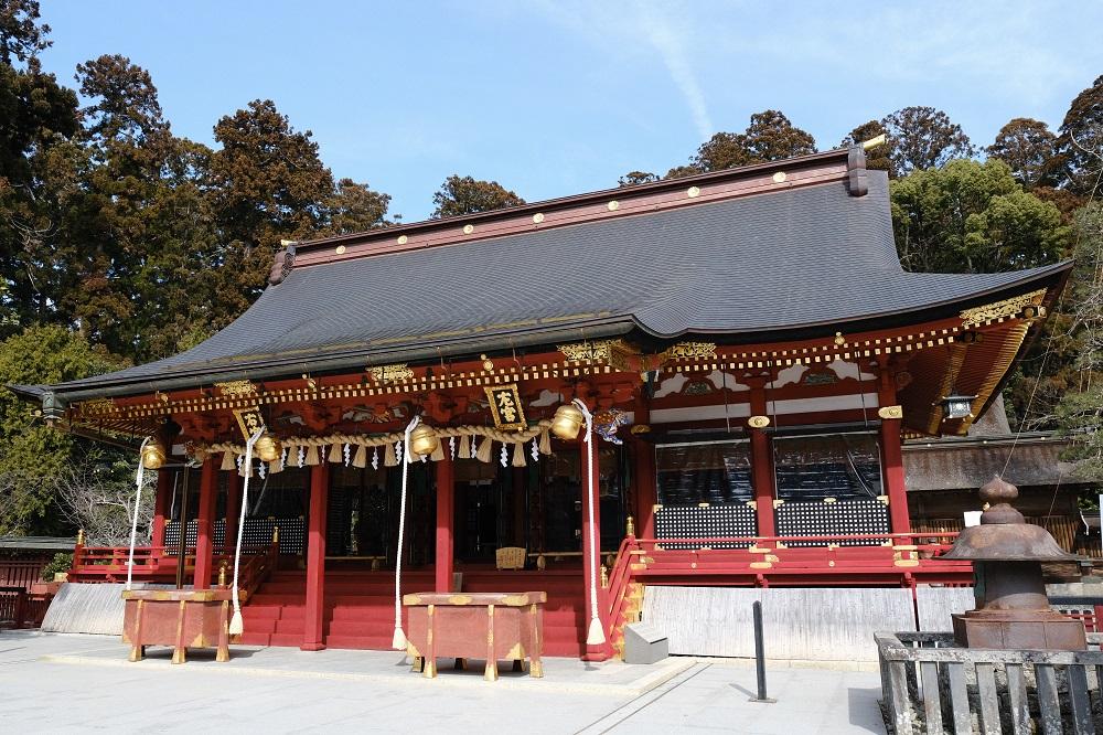 塩釜神社の本殿の風景写真