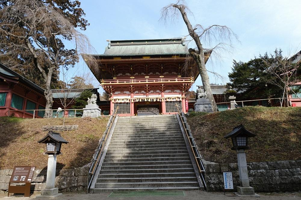 塩釜神社楼門の風景写真