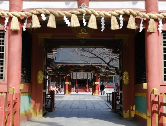塩竃神社の2月の唐門の風景写真