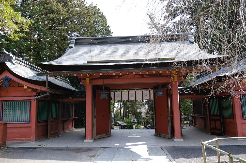 塩竃神社の2月の風景写真