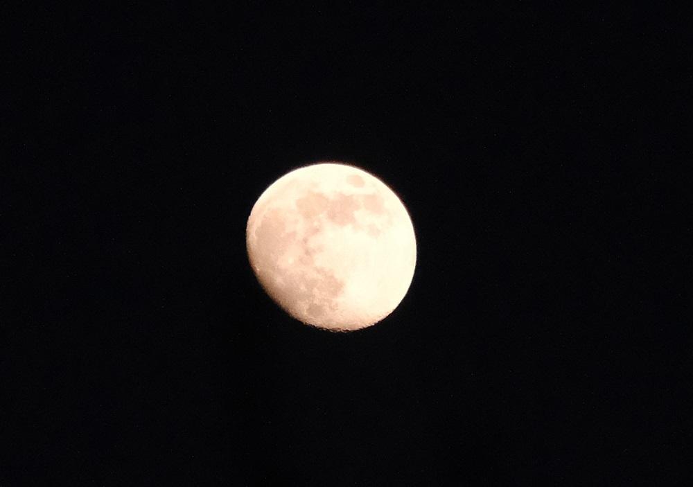 苺月の満月前の写真