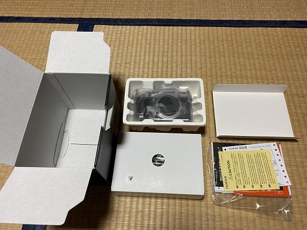x-t4開封した写真!