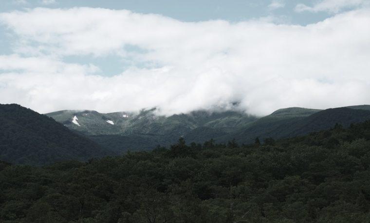 ブリーチバイパスで栗駒山を撮影