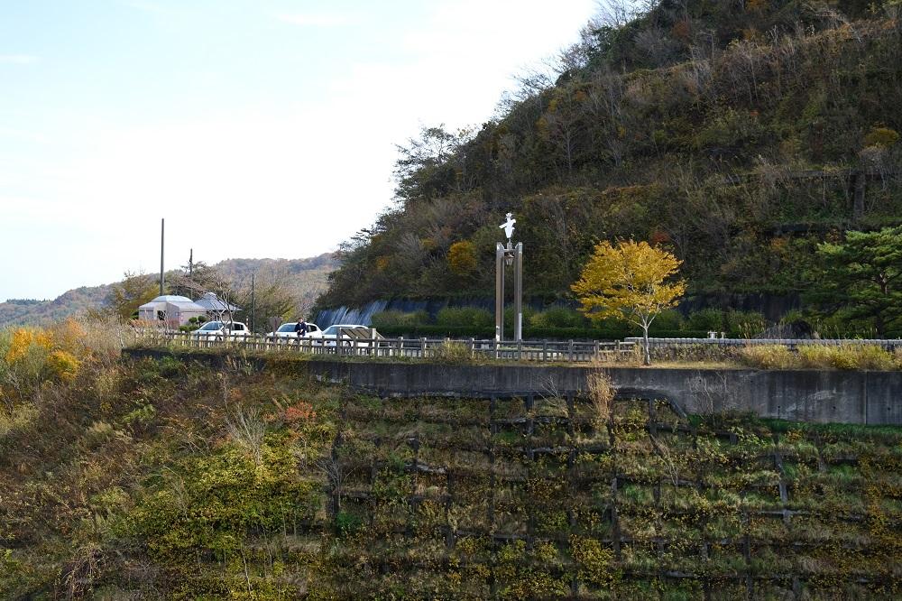 入畑ダムの駐車場の風景写真
