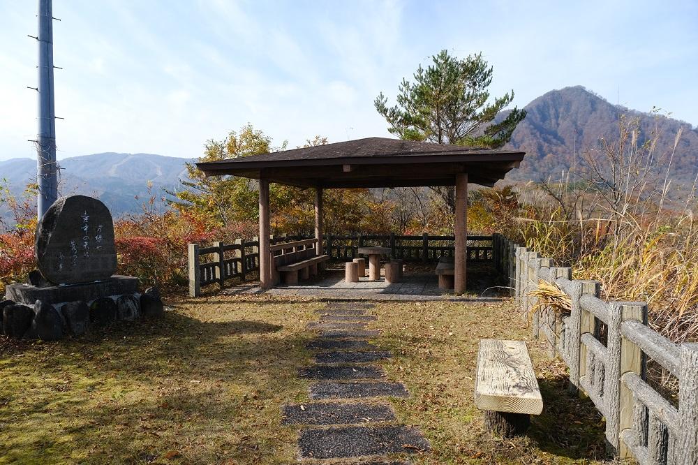 入畑ダムの展望広場の風景写真